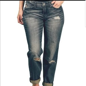Dear John 27 Distressed Boyfriend Crop Jeans Denim